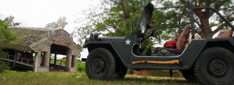 Jeep car racental in Hue city