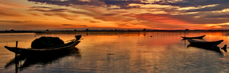 Sunrise on Tam Giang Lagoon - Hue Private Taxi