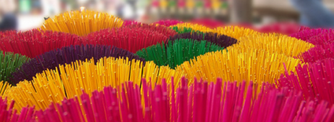 Colorful Incense at Incense Making Village