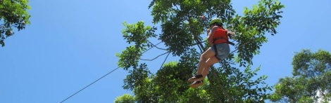 Zip line at Thanh Tan hot spring