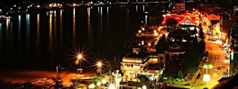 Ninh Kieu Habour by night - Can Tho City