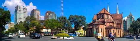 Saigon city and Duc Ba Church